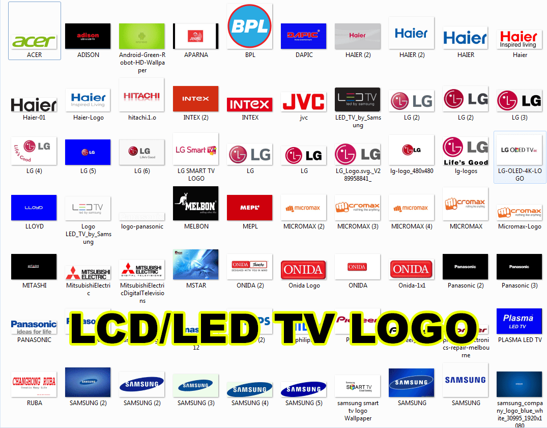 All Lcd  Led Tv Logo Images Collection Free Download  U00bb Soft4led