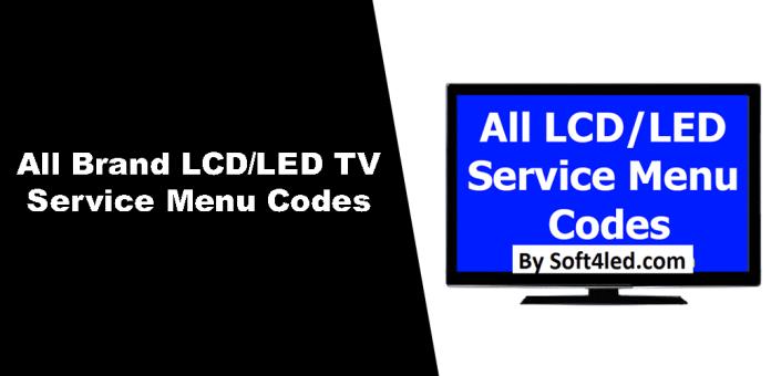 All TV Service Menu Codes Mobile App V2