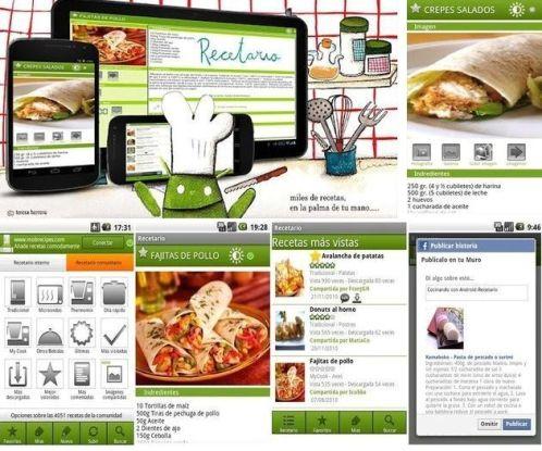 Recetario, app Android gratuita para que tengas siempre a mano miles de  recetas - Soft & Apps