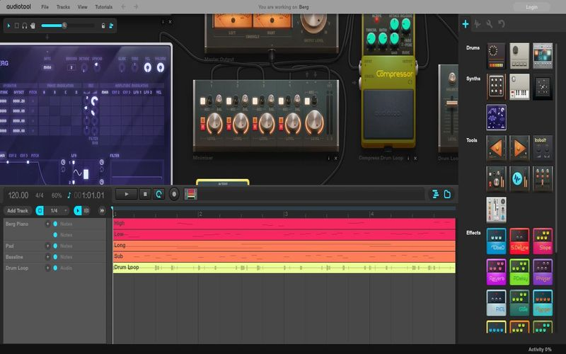 Audiotool 5 utilidades web gratuitas para crear y editar sonidos