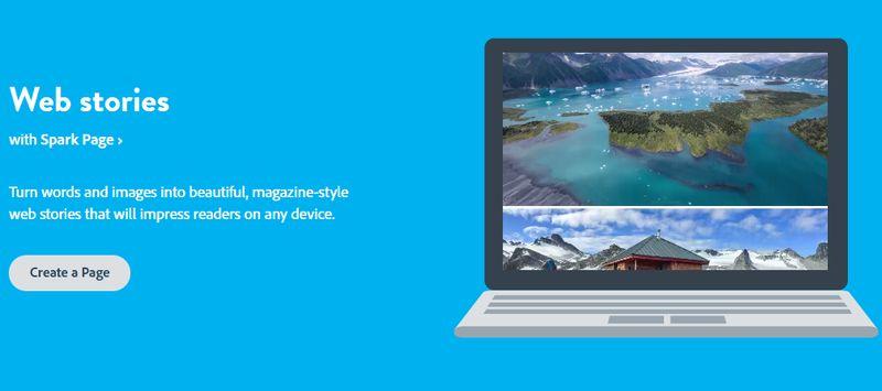 Crear Historias para la Web con Adobe Spark Adobe Spark: web gratuita para crear vídeos, historias web e imágenes sociales