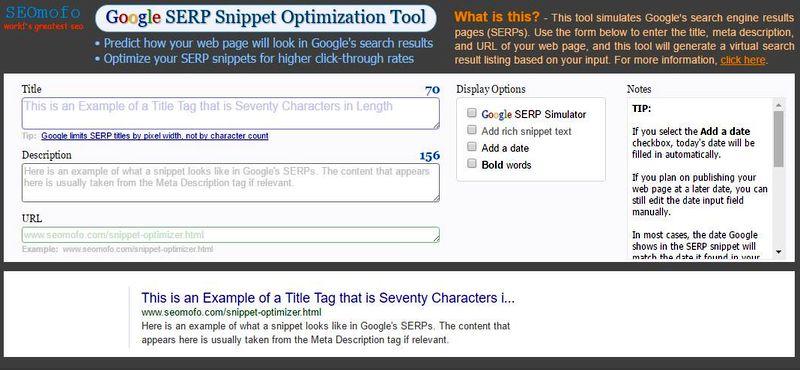 7 Herramientas SEO gratuitas que debes conocer Google SERP Snippet Optimization Tool 7 Herramientas SEO gratuitas muy poco conocidas