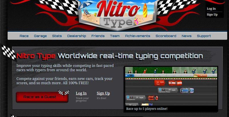 Aplicaciones web para ganar Velocidad al Teclado Nitro Type 5 aplicaciones web para mejorar tu Velocidad al Teclado
