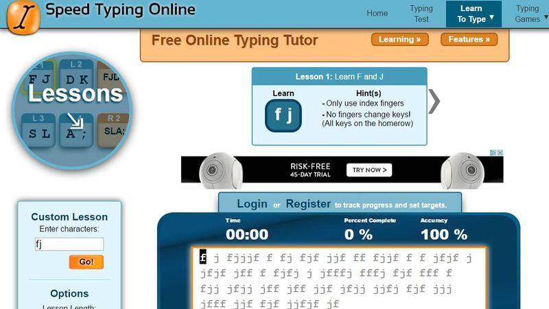 Aplicaciones web para ganar Velocidad al Teclado Speed Typing Online 5 aplicaciones web para mejorar tu Velocidad al Teclado