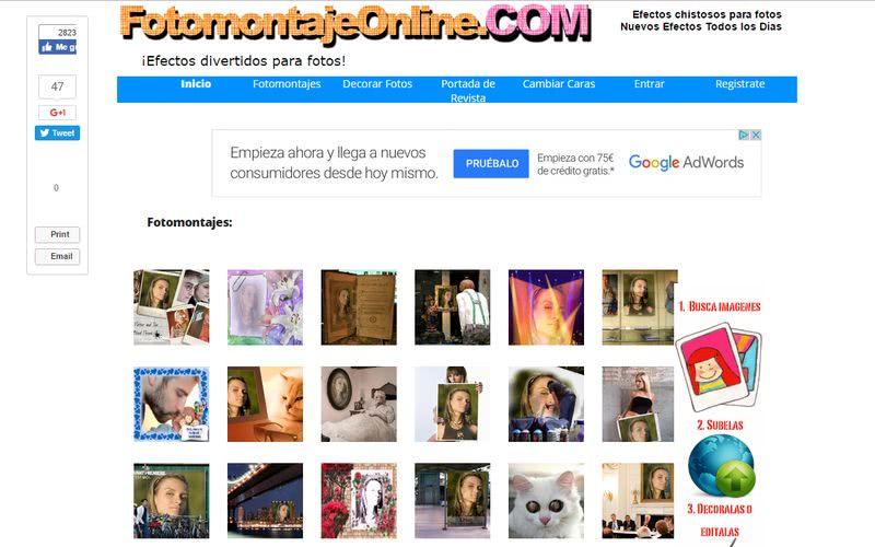 Crear fotomontajes gratis online FotomontajeOnline Crear fotomontajes gratis online con estas 10 páginas