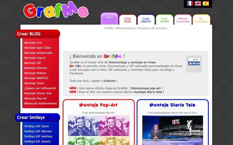 Crear fotomontajes gratis online GrafMe Crear fotomontajes gratis online con estas 10 páginas