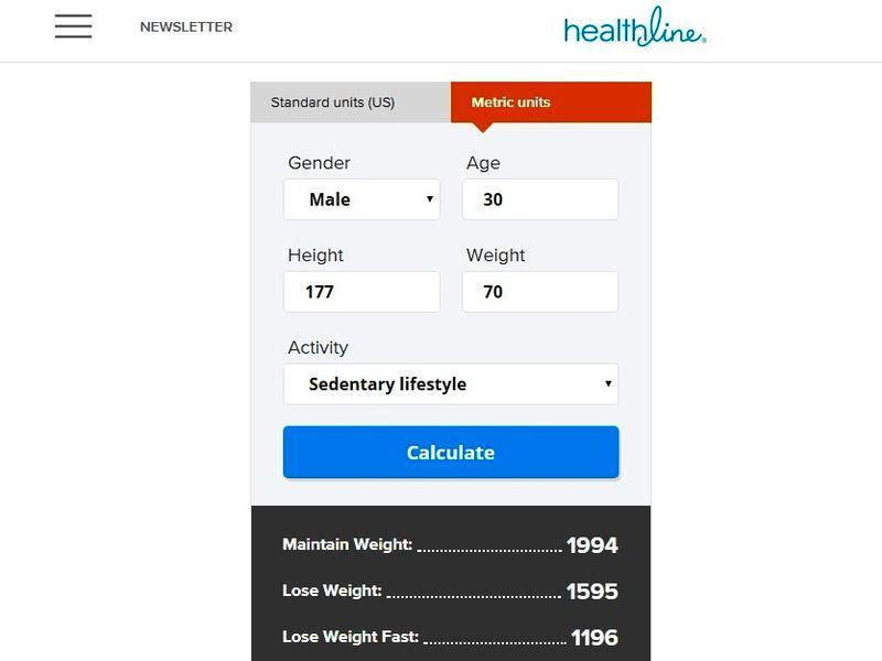 Calculadoras de calorías HealthLine 3 calculadoras de calorías online para controlar el peso