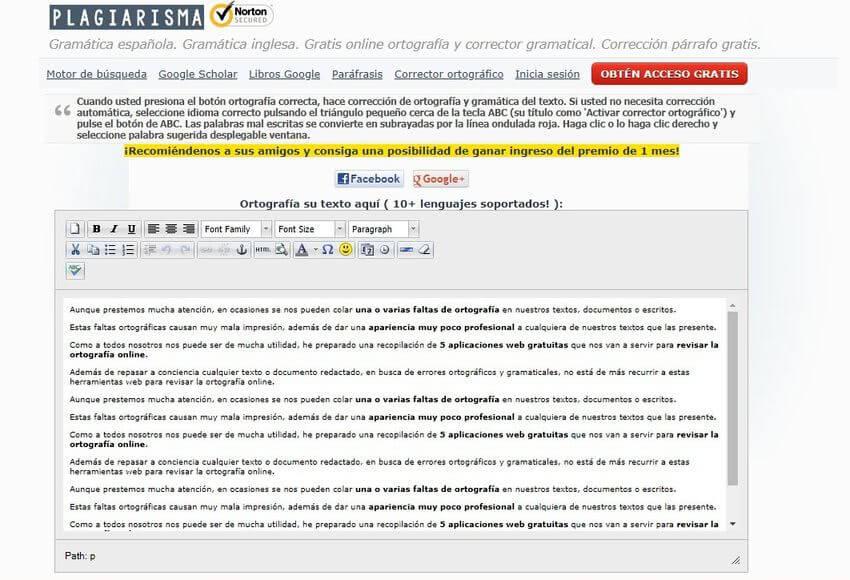 Revisar la ortografía online Plagiarisma Revisar la ortografía online con estas 5 aplicaciones web gratuitas