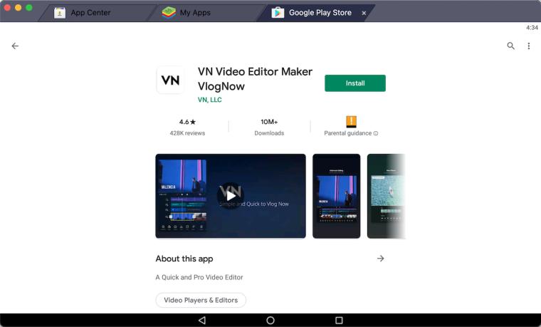 vn-video-editing-app-for-pc-using-bluestacks
