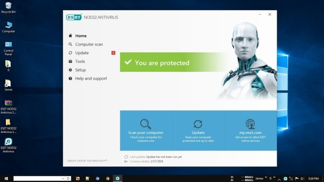 NOD32 Antivirus windows