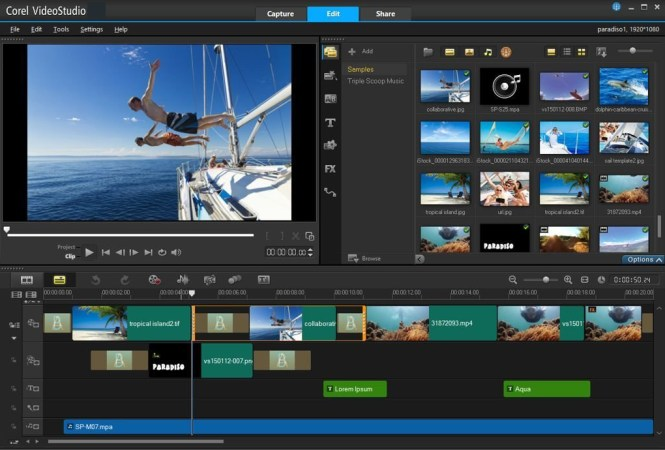 Corel VideoStudio windows