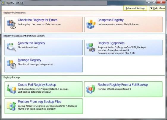 Registry First Aid windows