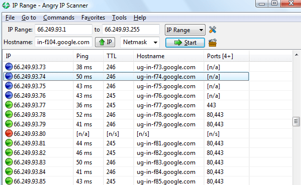 Angry Ip Scanner windows