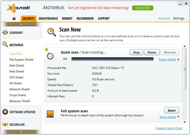 Avast Antivirus windows