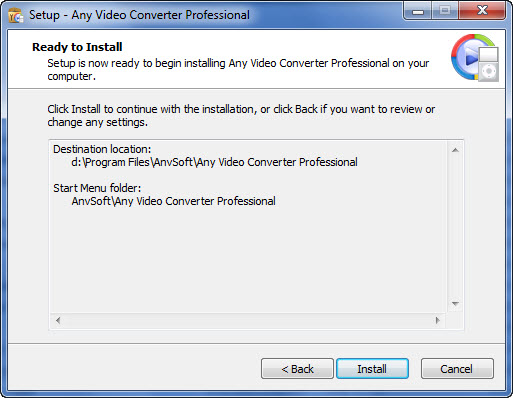 Any Video Converter Pro windows