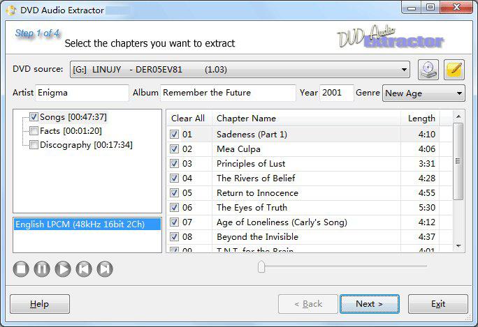DVD Audio Extractor windows