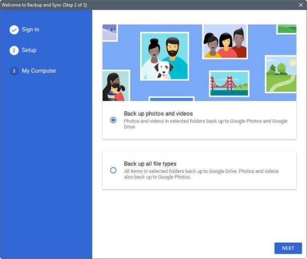 Google Backup and Sync windows