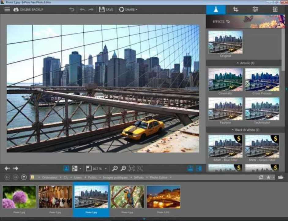 InPixio Free Photo Editor windows