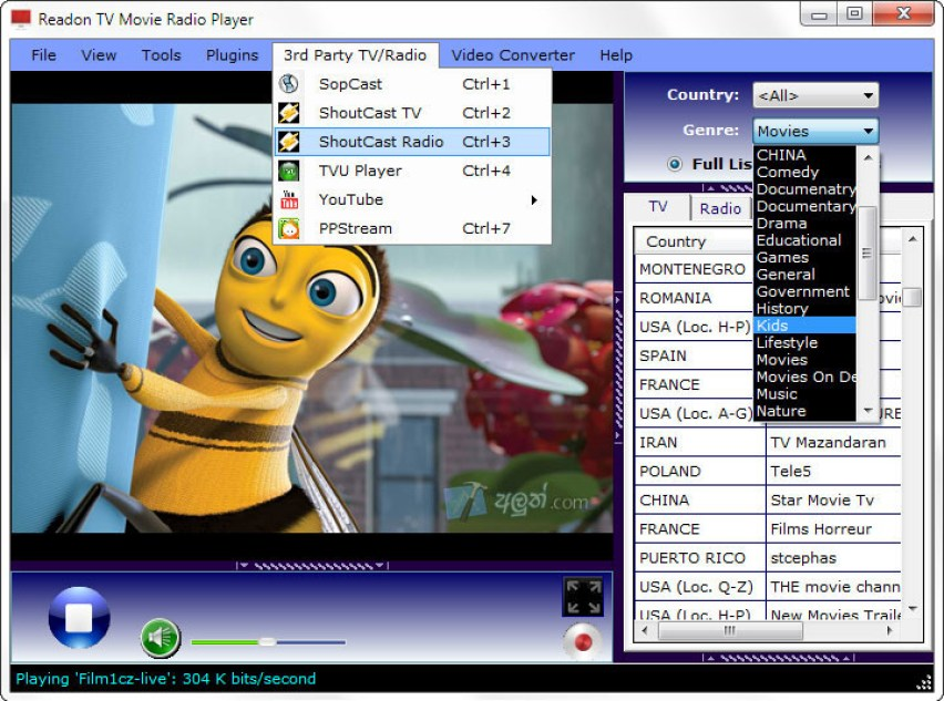 Readon TV Movie Radio Player latest version