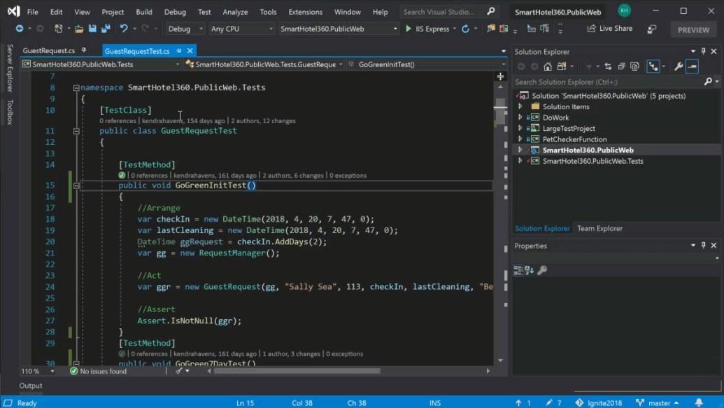 Visual Studio windows