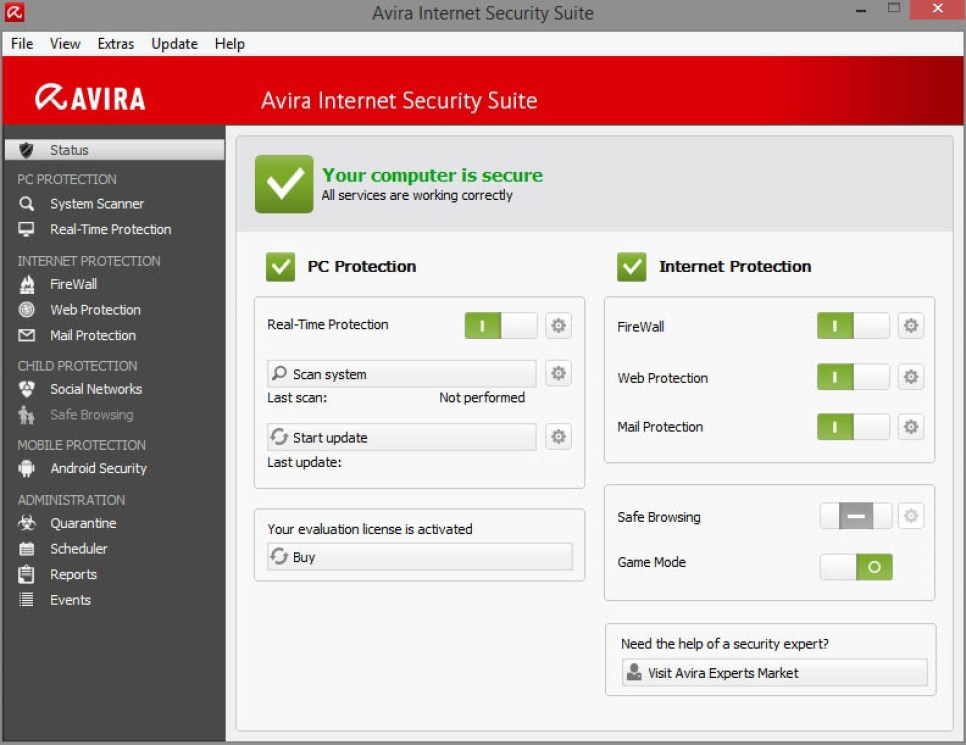 Avira Internet Security Suite latest version