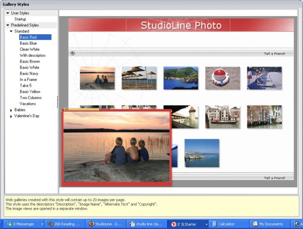 StudioLine Photo Classic windows