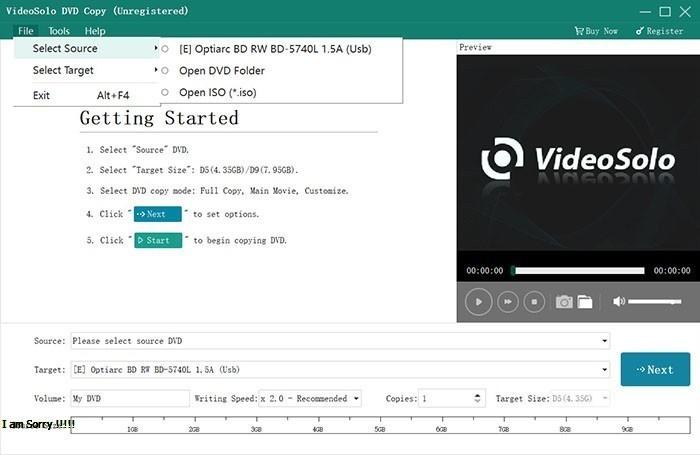 VideoSolo DVD Copy latest version