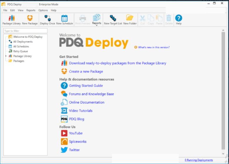 PDQ Inventory Enterprise widnows