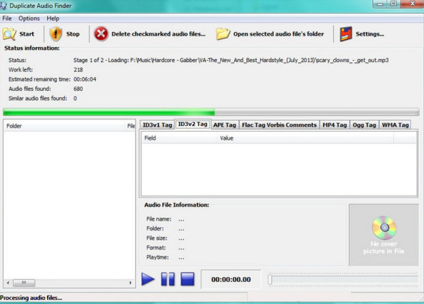 3delite Duplicate Audio Finder latest version
