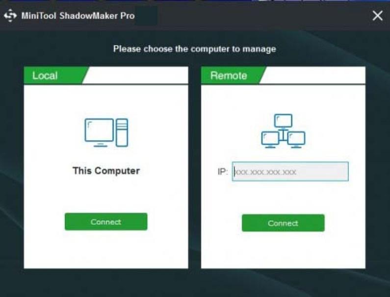 MiniTool ShadowMaker Pro Ultimate windows