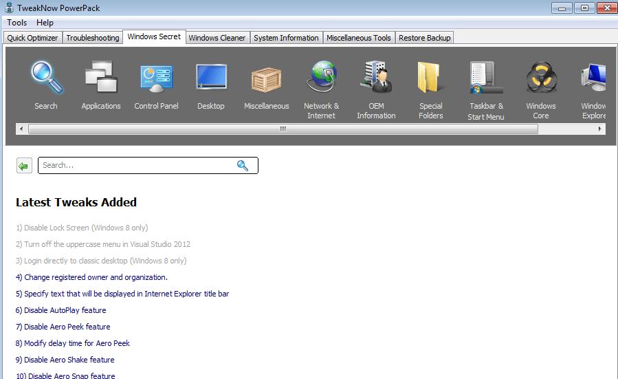 TweakNow PowerPack latest version