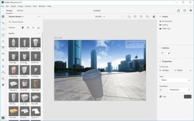 Adobe Dimension CC windows