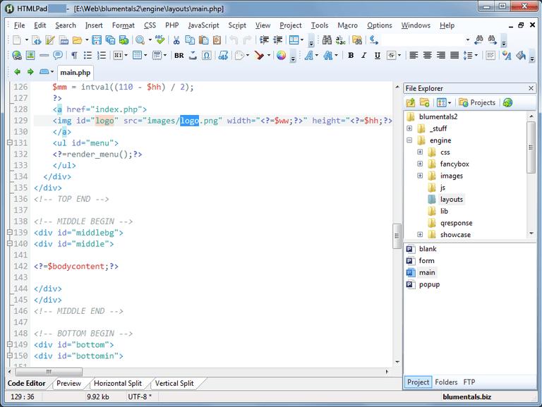 Blumentals HTMLPad windows