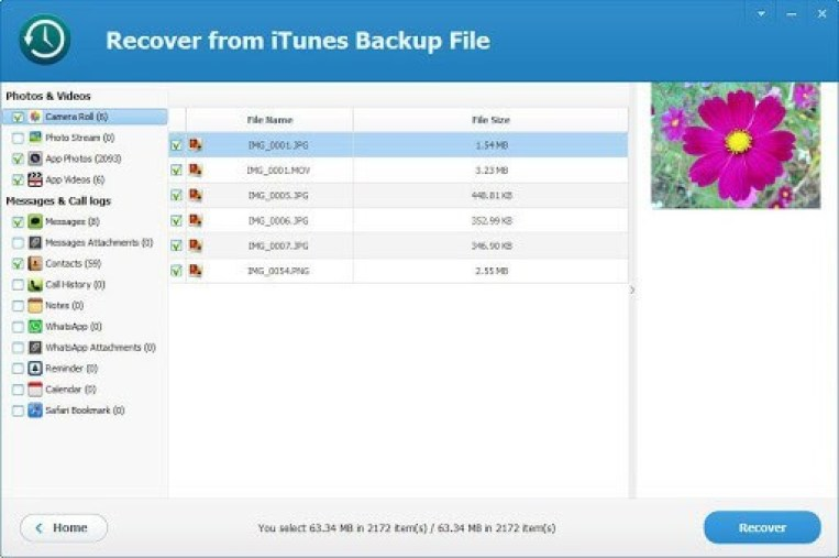 ThunderShare iTunes Backup Extractor windows