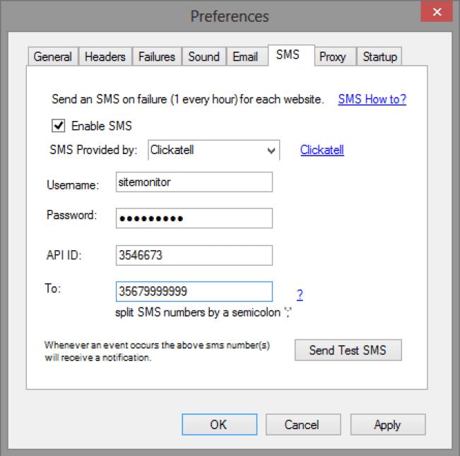 SiteMonitor Enterprise windows