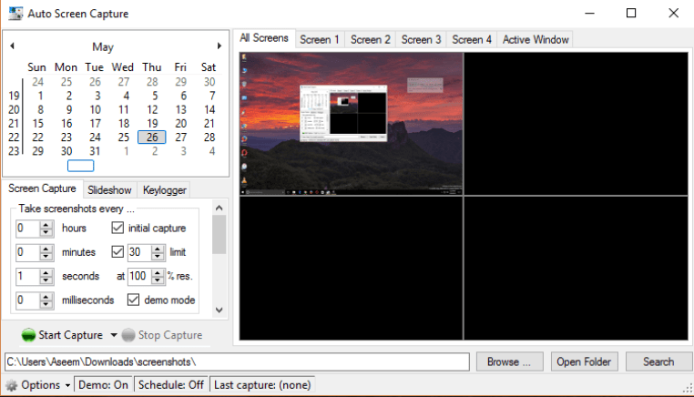 Auto Screen Capture latest version