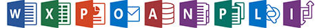 Microsoft Office 2013 Word Excel Power Point OneNote Icons