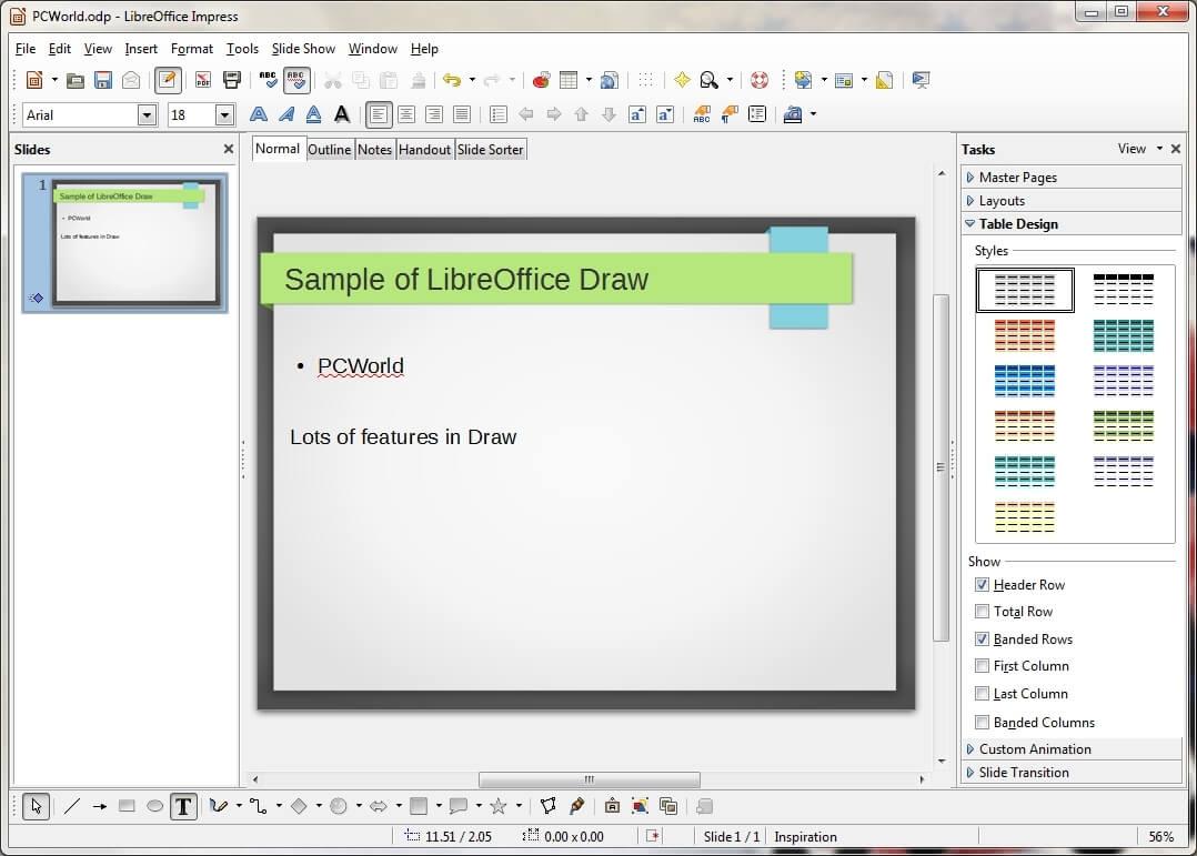 Libreoffice Draw V5