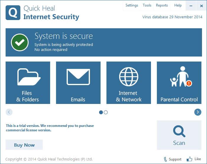 quick heal internet security 2014