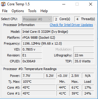 Check CPU Temp in Core Temp Windows 10 - Best Temp Monitor