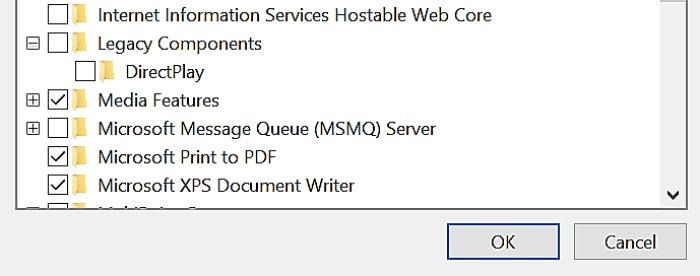 hwo to enable directplay windows 10