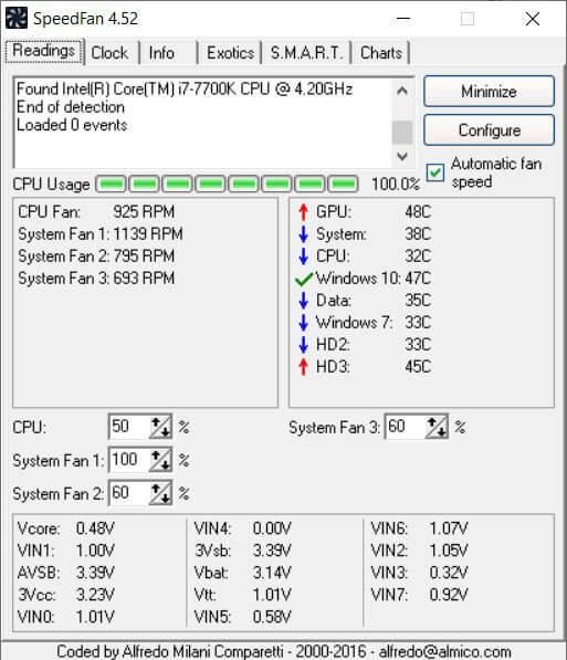 Download SpeedFan for Windows 10 to increase fan speed on PC