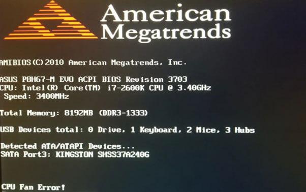 Fix CPU fan error ASUS on boot