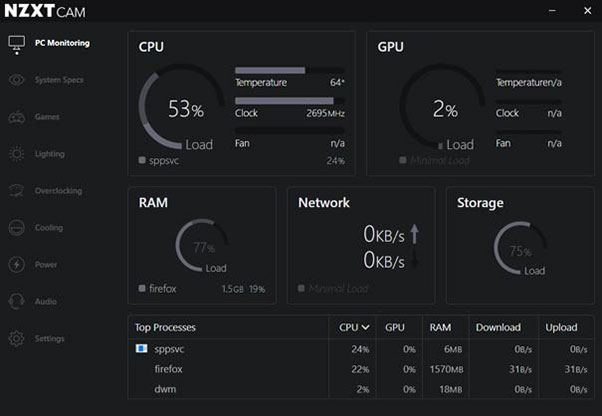 NZXT Cam Download For Windows 10