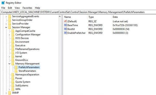 Use Windows Registry to kill SuperFetch