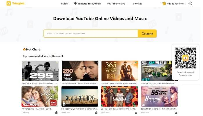 Snappea Youtube Downloader