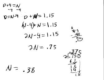 solving basic algebra equations homework word problem