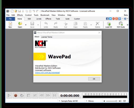Wavepad 8.36 Crack