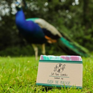 Flash the Peacock - Handmade Soap - cedarwood, rosemary, tea tree