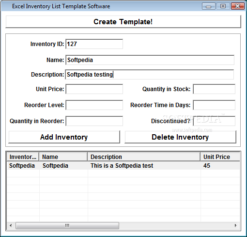 excel 2010 templates inventory